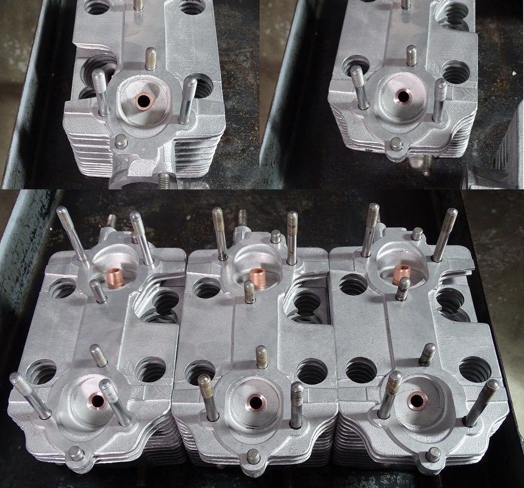 cylinder Heads after machining one side