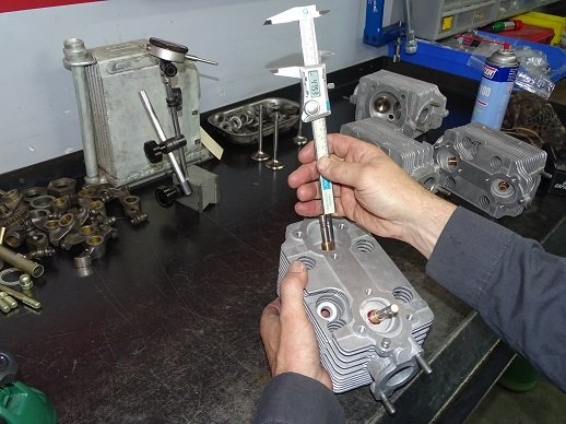 Measuring installed valve height