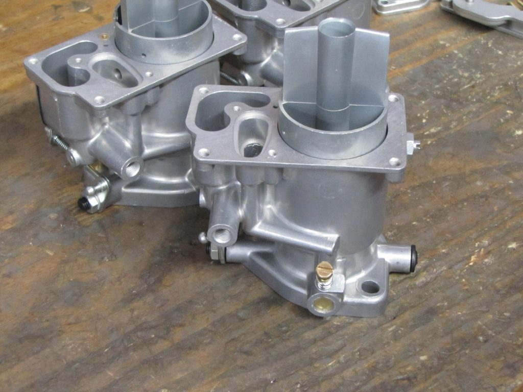 Single carburetor body waiting on a jet pack Solex 40P-I